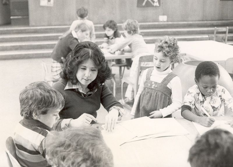 1978-1979. Kindergarten at Lyndhurst.