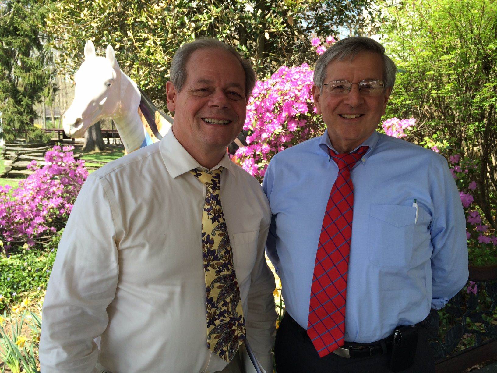 Chris Tarr '66 and Andy Shaw '66 met for lunch recently in Basking Ridge, New Jersey at the Olde Mill Inn.