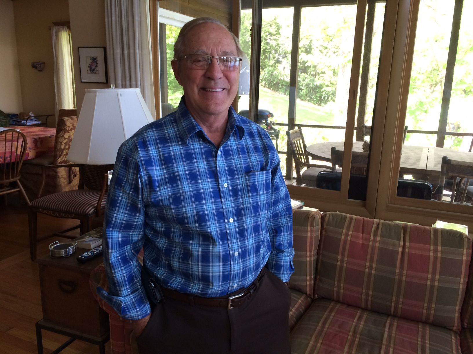 Dr. George Deemys '53 at his home in Arlington, Massachusetts