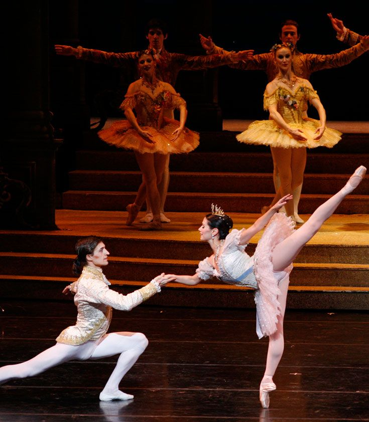 "Suzanne Lopez Prisco '89 performing the title role in The Joffrey Ballet's production of Sir Frederick Ashton's ""Cinderella."""