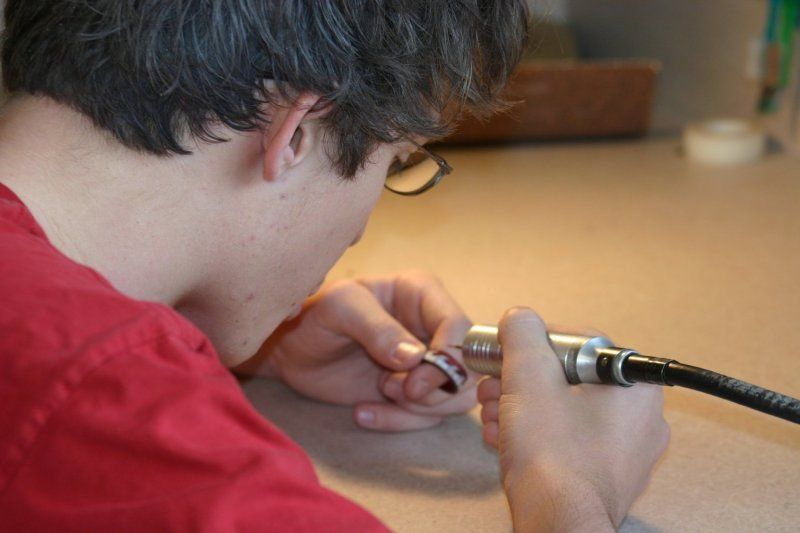 Dawson students are risk-takers. With 16 different arts courses, they try new things.  The Arts Center is a place where the varsity baseball player throws clay and the AP Calculus student creates a perfectly symmetrical jeweled ring.